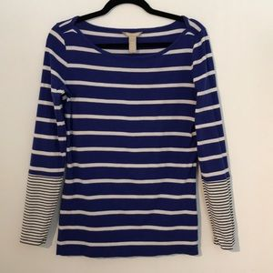 Banana Republic stripe long sleeve
